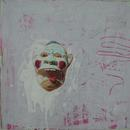 "The Scream,  20"" x 20"", acrylic and mixed media on paper, by Mary Lottridge"