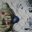 Clown Closeup, detail, by Mary Lottridge