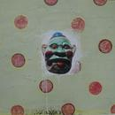 """Coulrophobia 1, 22"""" x 23.5"""", acrylic and mixed media on paper by Mary Lottridge"""