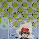"""Joy Monkey 2, 24"""" x 24"""", acrylic on wood cradle"""