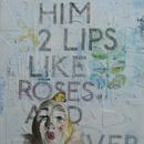 "Like Roses and Clover, 24"" x 38"", acrylic on masonite cradle"