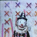 """Analog Man, 24"""" x 24"""", acrylic on wood cradle"""